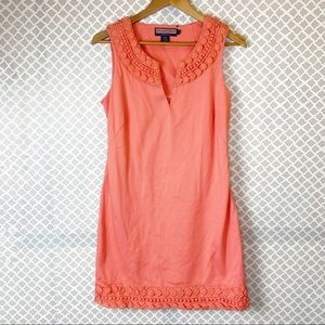 EUC Vineyard Vines Sleeveless Crochet Sheath Dress
